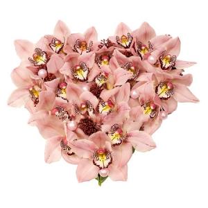 Орхидей 31 штука оазис в форме сердца